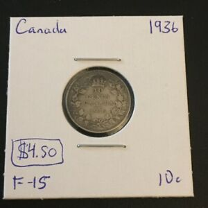 1936 10 CENT CANADA     COIN 293