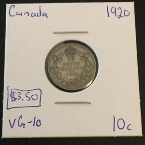 1920 10 CENT CANADA     COIN 291