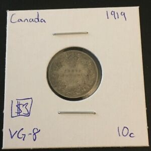 1919 10 CENT CANADA     COIN 288