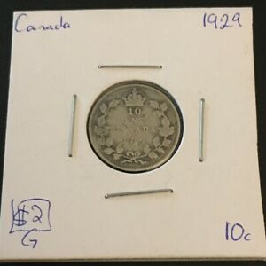 1929 10 CENT CANADA     COIN 280
