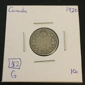 1920 10 CENT CANADA     COIN 279