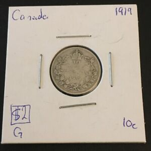1919 10 CENT CANADA     COIN 278