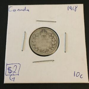 1918 10 CENT CANADA      COIN 277