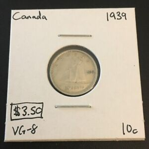 1939 10 CENT CANADA       COIN 227