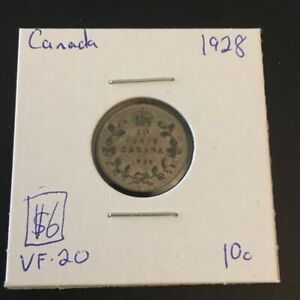 1928 10 CENT CANADA      COIN 310