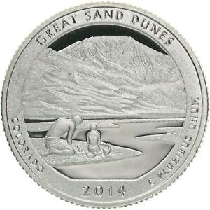 2014 S PARKS QUARTER ATB GREAT SAND DUNES NATIONAL PARK GEM PROOF DCAM CN CLAD