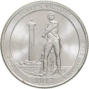 2013 P PARKS QUARTER ATB PERRY'S VICTORY PEACE MEMORIAL BU CN CLAD US COIN