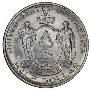 1920 MAINE SILVER COMMEMORATIVE HALF DOLLAR   BRILLIANT UNCIRCULATED
