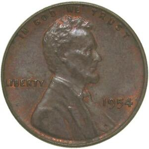 1954 LINCOLN WHEAT CENT ABOUT UNCIRCULATED PENNY AU