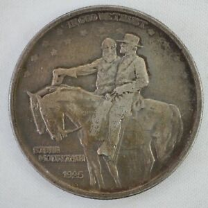 1925 STONE MOUNTAIN HALF DOLLAR 50C 90  SILVER COMMEMORATIVE