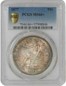 Click now to see the BUY IT NOW Price! 1877 TRADE DOLLAR $ MS66  SECURE PLUS PCGS   941228 20