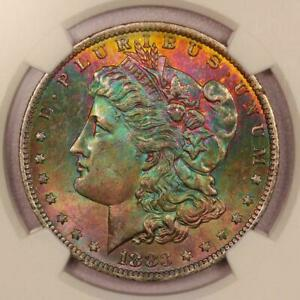 Click now to see the BUY IT NOW Price! 1883 O MORGAN SILVER DOLLAR INCREDIBLE RAINBOW TONING