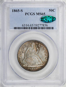 Click now to see the BUY IT NOW Price! 1865 S LIBERTY SEATED 50C PCGS MS 65