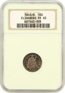 Click now to see the BUY IT NOW Price! 1849/8 10C NGC PR 65 EX: ELIASBERG       LIBERTY SEATED DIME