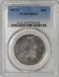 Click now to see the BUY IT NOW Price! 1817/3 CAPPED BUST HALF 50C O 101A MS63 PCGS  942004 7