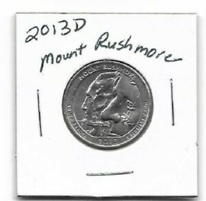 2013 D MOUNT RUSHMORE NATIONAL MEMORIAL QUARTER AU ATB