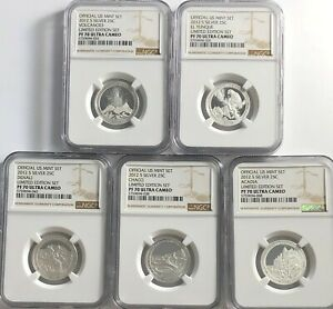 Click now to see the BUY IT NOW Price! 2012 S PROOF SILVER QUARTER SET NGC PF70 ULTRA CAMEO LIMITED EDITION 25C