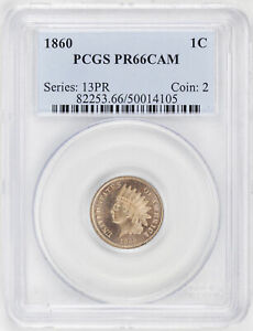 Click now to see the BUY IT NOW Price! 1860 INDIAN COP NIC 1C PCGS PR 66 CAM