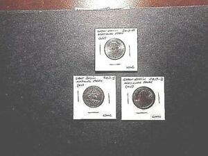 2013 AMERICA THE BEAUTIFUL QUARTERS GREAT BASIN N.P. SET OF 3 P D S UNC COND.