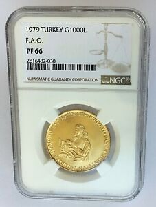 Click now to see the BUY IT NOW Price! 1979 TURKEY 1000 LIRA PROOF GOLD COIN   NGC