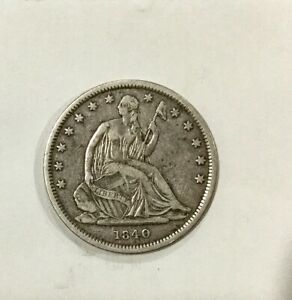 Click now to see the BUY IT NOW Price! 1840 REV 1839 HALF DOLLAR  DATE SHARP DETAILS SOME MARKS SCUFFS NICE COIN