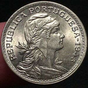 Click now to see the BUY IT NOW Price! 1945 PORTUGAL 50 CENTAVOS COIN LIBERTY HEAD WW2 ERA KM 577 UNCIRCULATED
