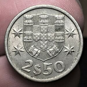 Click now to see the BUY IT NOW Price! 1964 PORTUGAL 2 1/2 ESCUDOS COIN KM 590 AUNCIRCULATED