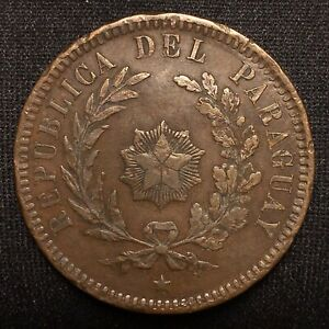 Click now to see the BUY IT NOW Price! 1870 PARAGUAY 2 CENTESIMOS KM 3 XF DETAILS