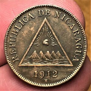 Click now to see the BUY IT NOW Price! 1912 H NICARAGUA 1 CENTAVO HEATON KM 11 1ST YEAR BETTER DATE AUNCIRCULATED