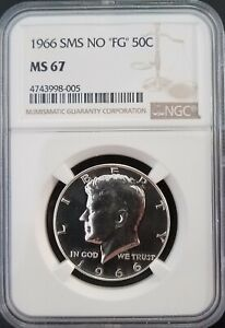 Click now to see the BUY IT NOW Price! 1966 SMS KENNEDY NO FG MS67   TOP POP REGISTRY COIN   SP67    005