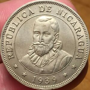 Click now to see the BUY IT NOW Price! 1939 NICARAGUA FIFTY 50 CENTAVOS KM 19.1 LOVELY & UNCIRCULATED KEY DATE COIN