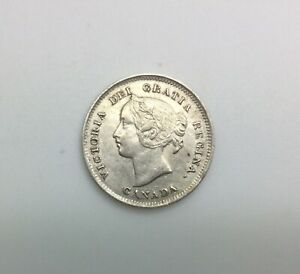 Click now to see the BUY IT NOW Price! CANADA 1897 5 CENTS SILVER VICTORIA SHARP BETTER GRADE SOME LUSTRE SLENDER 8