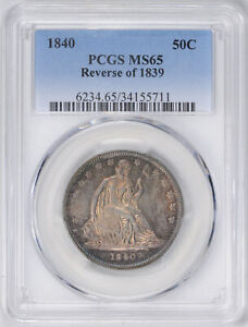Click now to see the BUY IT NOW Price! 1840 LIBERTY SEATED 50C PCGS MS 65