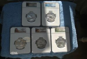 Click now to see the BUY IT NOW Price! 2014 NGC AMERICA THE BEAUTIFUL 5 OUNCE SET SP70 EARLY RELEASES