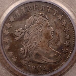 Click now to see the BUY IT NOW Price! 1804 JR 2 R5 DRAPED BUST DIME PCGS VF35 14 STAR    DAVIDKAHNCOINS