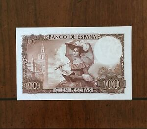 Click now to see the BUY IT NOW Price! 1965 SPAIN 100 PESETAS BANKNOTE BECQUER/PAINTING PICK 150 SERIAL  J 1946158