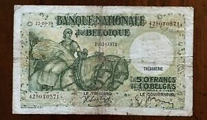 Click now to see the BUY IT NOW Price! 1938 BELGIUM 50 FRANCS / 10 BELGAS BANKNOTE 22 06 38 PICK 106