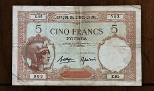 Click now to see the BUY IT NOW Price! 1926 NEW CALEDONIA  NOUMEA  5 FRANCS BANKNOTE FRENCH DEPENDENT TERRITORY P 36