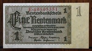 Click now to see the BUY IT NOW Price! 1937 GERMANY 1 MARK EINE RENTENMARK BANKNOTE BERLIN JAN. 30TH 1937 PICK 173B