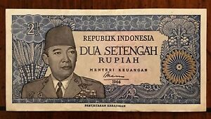 Click now to see the BUY IT NOW Price! 1964 INDONESIA 2 1/2 RUPIAH BANKNOTE PICK 81A