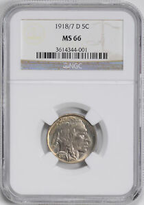 Click now to see the BUY IT NOW Price! 1918 D BUFFALO 5C NGC MS 66