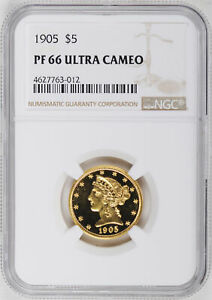 Click now to see the BUY IT NOW Price! 1905 LIBERTY $5 NGC PR 66 DCAM