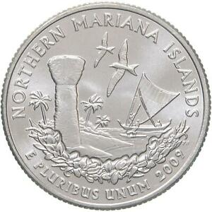 2009 D TERRITORIES QUARTER NORTHERN MARIANA ISLANDS BU CN CLAD US COIN