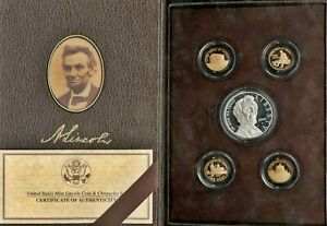 2009 LINCOLN COIN AND CHRONICLES 5 COIN SET 50 000 MINTAGE