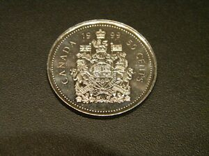 CANADA 1999  UNGRADED UNCIRCULATED FIFTY CENT 50C COIN