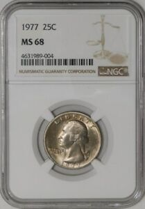 Click now to see the BUY IT NOW Price! 1977 WASHINGTON QUARTER 25C MS68 NGC  942183 1