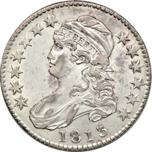 1813 CAPPED BUST HALF DOLLAR AU CLEANED 50C C00046573