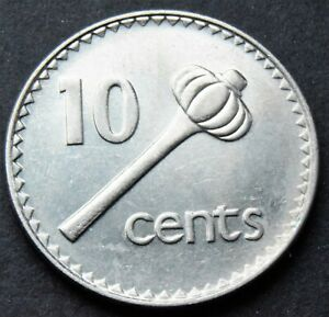 1996 FIJI 10 CENTS COIN LOW MINTAGE YEAR
