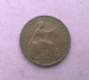 BRITAIN GEORGE IV FARTHING 1822   DOUBLE STRUCK ''D'' IN ''DEF''