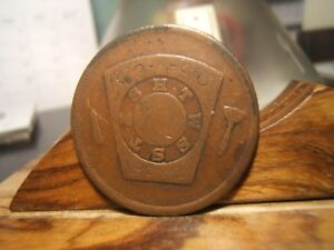 1875 MASONIC ONE PENNY   COPPER